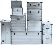 Alu-Box L2100xB450xH485mm mit Stapelecken