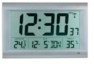 Wanduhr Funkuhrwerk LCD-Display